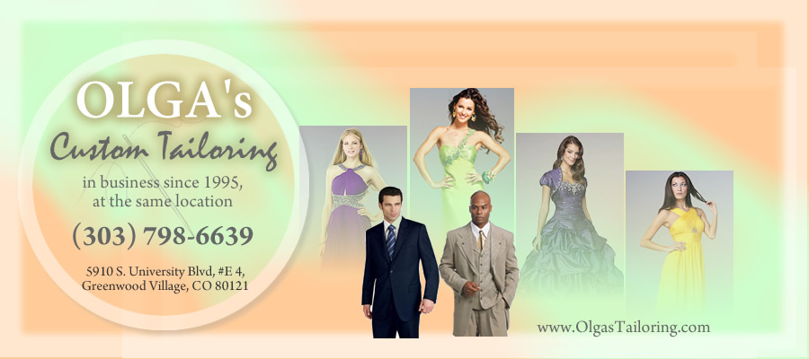 Welcome to Olga's Custom Tailoring